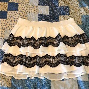 Black and White Candies layered mini skirt